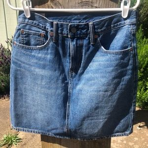 Levi Mid Thigh Jean Skirt